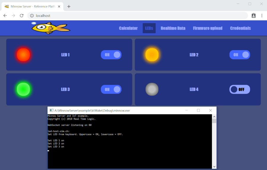 Minnow Server Example